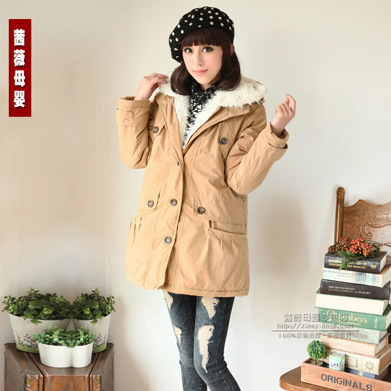 Cool unisex massifs maternity wadded jacket cotton-padded jacket outerwear maternity clothing maternity winter 2012