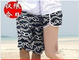 Cotton button lovers beach pants Women shorts casual pants beach pants