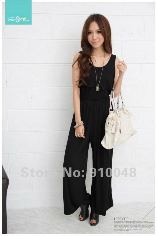 cotton jumpsuit / solid overall / joined bodies clothing / wholesale & retail / free shipping