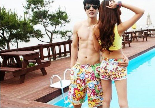 Cotton lovers beach pants flower beach pants shorts  Free shipping Wholesale couple men/womenhigh fashion hot shorts,