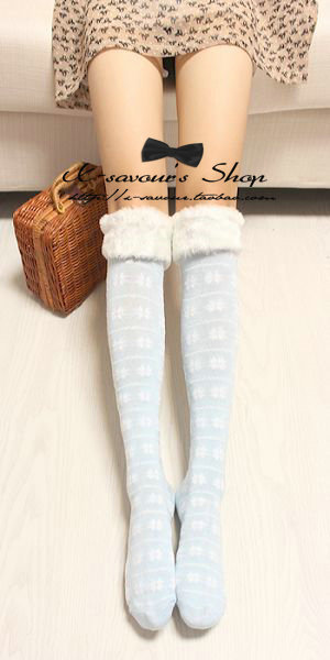 cotton Stockings/snowflake Christmas stocking/students socks stockings,Christmas gift free shipping