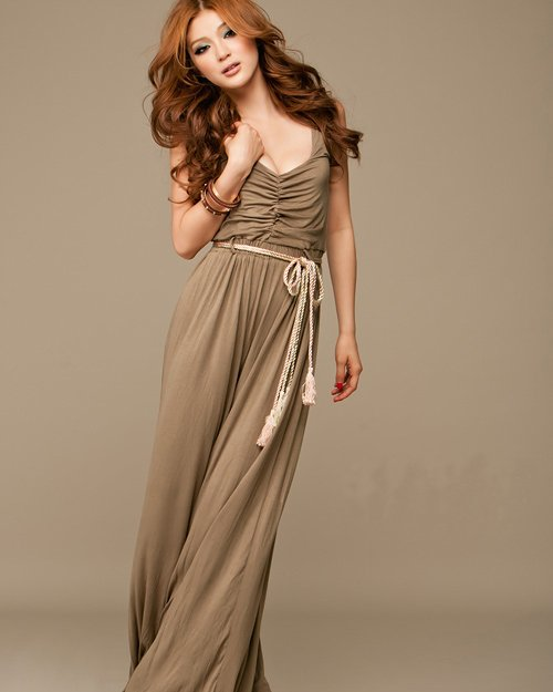 Cotton V-Neck Loose Waistband Jumpsuit