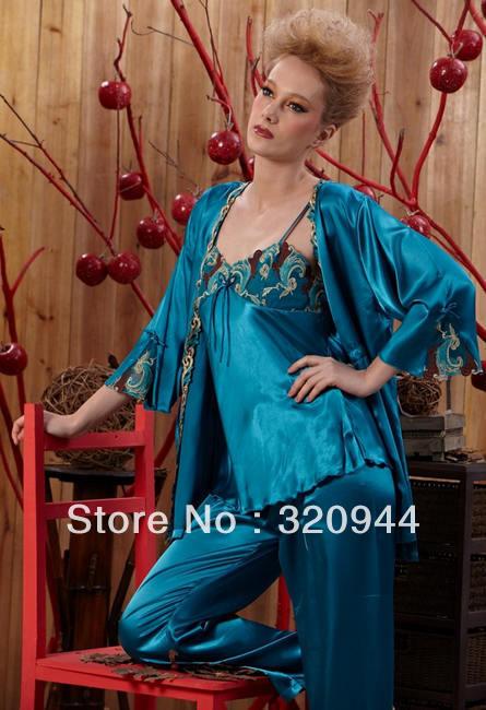 CPAM Silk pajama Sexy pajamas Drop shipping Comfortable noble Purple Green Free size #855
