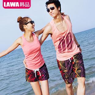 Crepitations buye lovers beach pants male women's male beach pants plus size quick-drying summer shorts