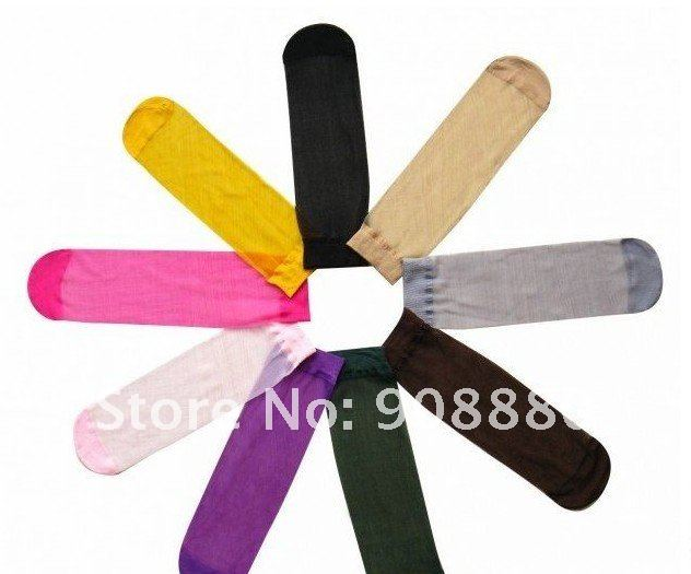 crystal socks Candy color socks 50 pair thin transparent short stockings ladies stockings silk socks 15color free shipping