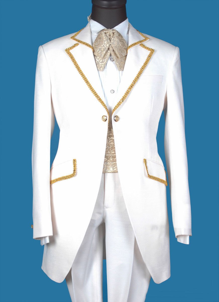 Custom Classic Designer White Embriodery (Jacket+Pants+vest) Groom Tuxedos Suits For Wedding Bridal Evening Formal Men Suit Wear