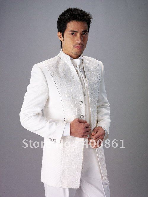 Custom-Made Classic Men's Wedding Dress Bridegroom Prom Clothing Groom Tuxedos (jacket+pants+vest+tie)ok:4