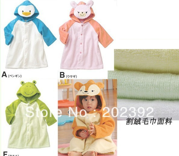 Cute baby baby Bath Hooded Towels, Fleece Blankets/Parisarc, Animal Model Washcloth&Robes EMS Freeshipping