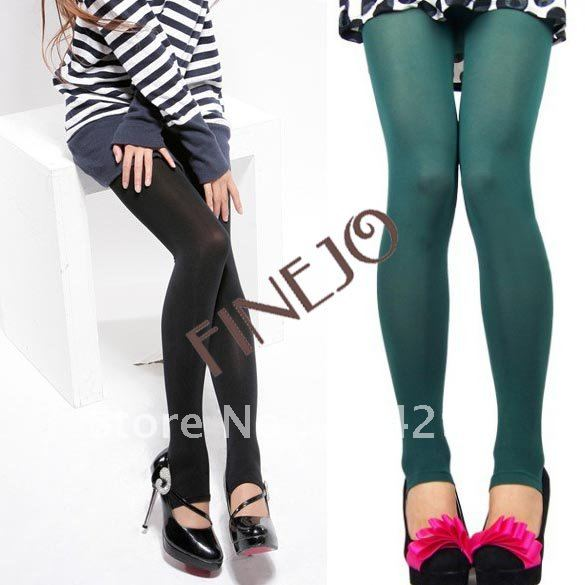 Cute New Fashion Opaque Pantyhose Tights Stockings lady Leggings pants 5 colors Free Shipping 3345