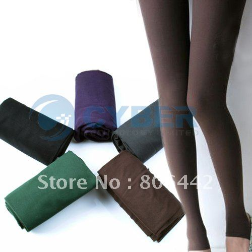 Cute New Fashion Opaque Pantyhose Tights Stockings lady Leggings pants 5 colors Free Shipping