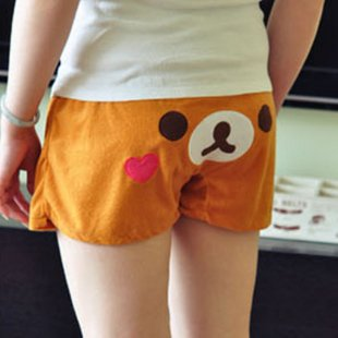 Cute Rilakkuma Teddy Bear Soft Ladis Womens Sleeping Shorts Free Shipping 10 Pcs/lot