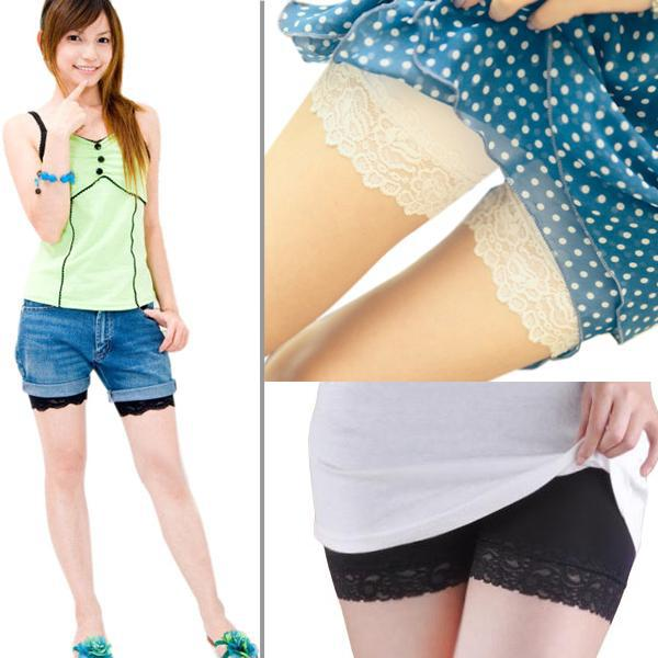 Cute Womens Ladies Lace Leggings Safety Shorts Pants Tights Black/White New A831