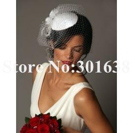 CVB-03077 Hot sale elegant free shipping wedding bridecage veil  face veil/hat