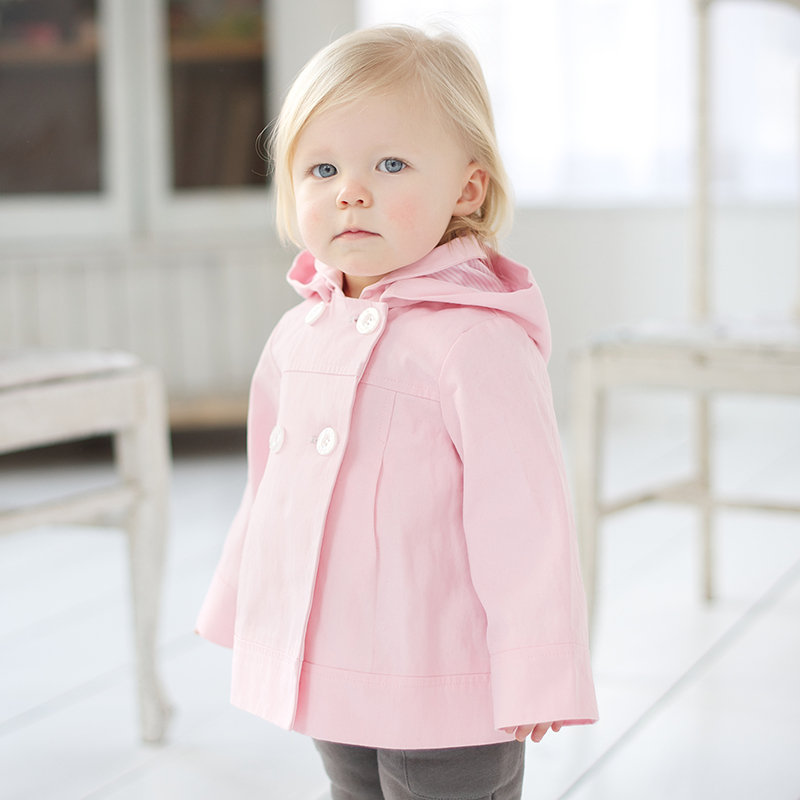 Davebella spring and autumn infant trench male 100% cotton windproof outerwear db191