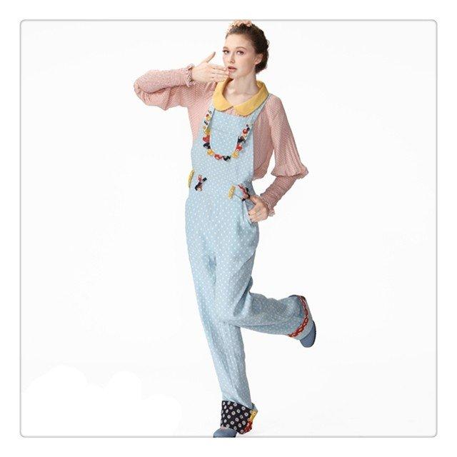 DEMONSTYLE lady's jumpsuit, blue jumpsuit KA10023Q