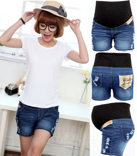 Denim shorts maternity denim shorts k106