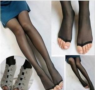 Detonation money! Wear a personality, brand open toe socks fish mouth silk stockings