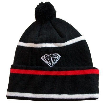 Diamond Beanie Hats  Are Extremely Loved By People Black strip sports caps freeshipping  !