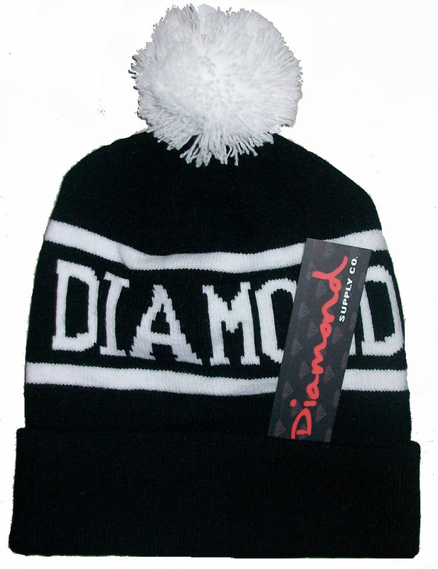 diamond hats Skullies & Beanies FUCKDOWN Beanie Diamond Basketball hats  wool winter knitted caps and hats for man and women