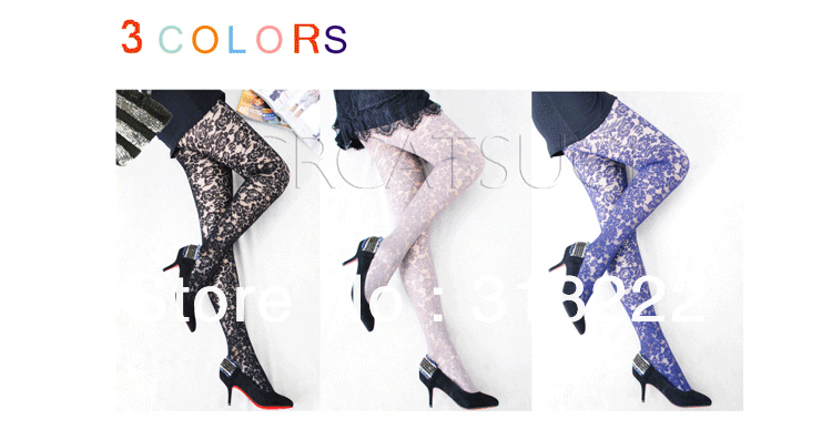 Dimensional flower pattern tights  pantyhose of sexy fishnet effect  free shipping retail and wholesale 2013 new Valentine gift
