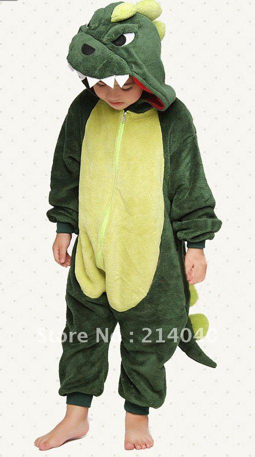 Dinosaur Cosplay Kigurumi Animal Costume for Kids pajamas