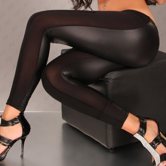 Dl black ultra-thin fashion women's slim stovepipe pantyhose 7779