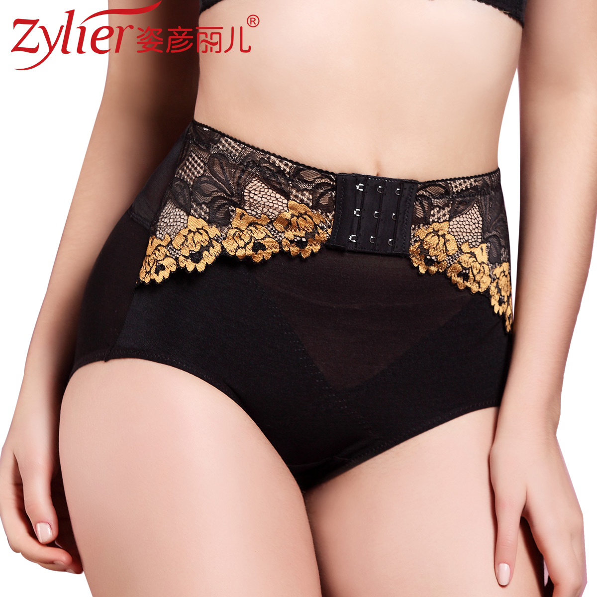 Double golden rose 2013 abdomen drawing mid waist butt-lifting body shaping panties sk132