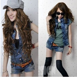 (Drop ship available) 2012 jumpsuits pants vest low-waist denim sets women rompers fashion design S;M;L Free shipping T0078