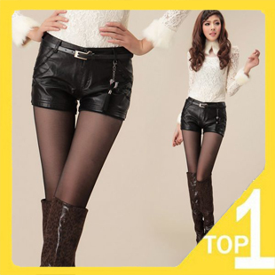 Drop shipping! Wholesale New 2012 Casual slim Women's  winter warm Zipper fly short pants with Korea style in sweet color 1633