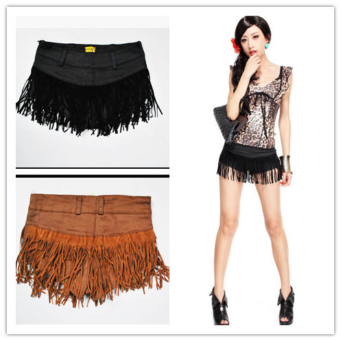 Ds Play Sexy Tassels Shorts Women Low Waist Pole Dance Clothing Hot Short Pants Free Shipping