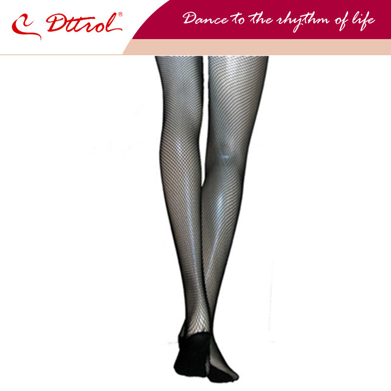 Dttrol free shipping Women's seamless Professional dance fishnet tights with black,toffee and tan colors (D004813)