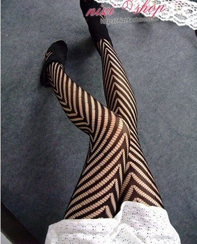 East Knitting FREE SHIPPING W-905 Women Fashions New 2013 Stripe Net Tights Wholesale 6pc/lot