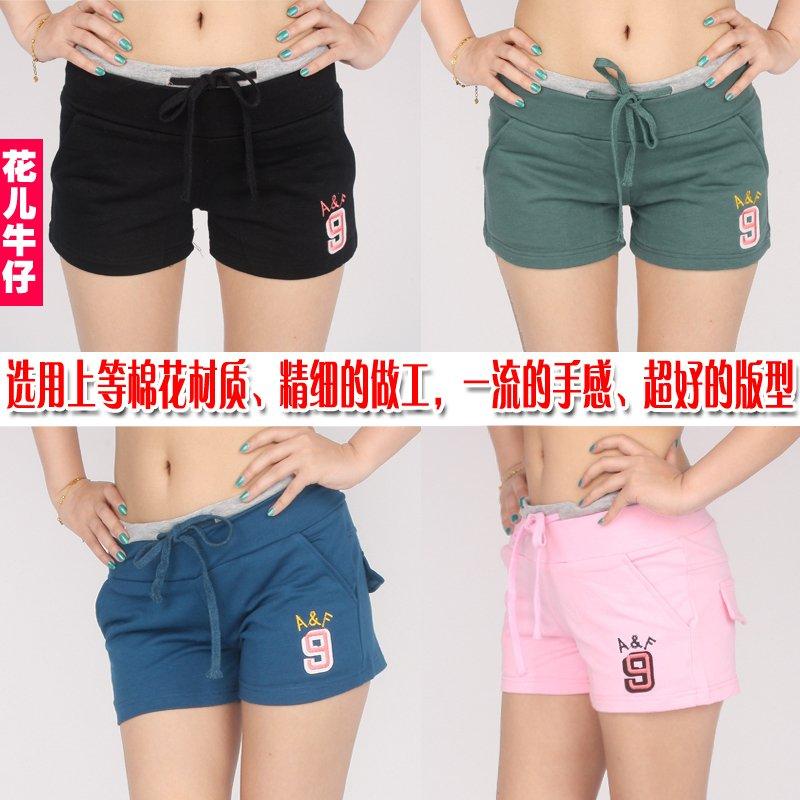 Elastic waist strap casual sports shorts cotton at home butt-lifting elastic shorts women's