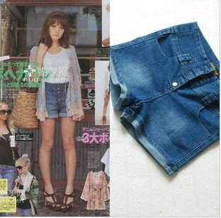 EMS/DHL Free Shipping VIVI/lena/ buttons  high waist denim shorts fashion jeans hot pants for Summer!5 pcs/lot#215