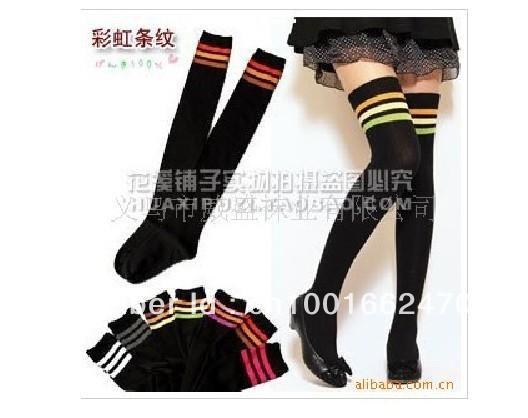 Factory direct sale Free Shipping all-match yarn cotton sock knee high socks fashion style w-14