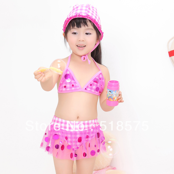 Factory price,Hot Sale  kid's  swimming wear, wholesale kids bikini,girls beachwear kids Free shipping