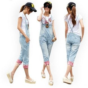 Fashion 2012 Casual Suspender Jeans Wear
