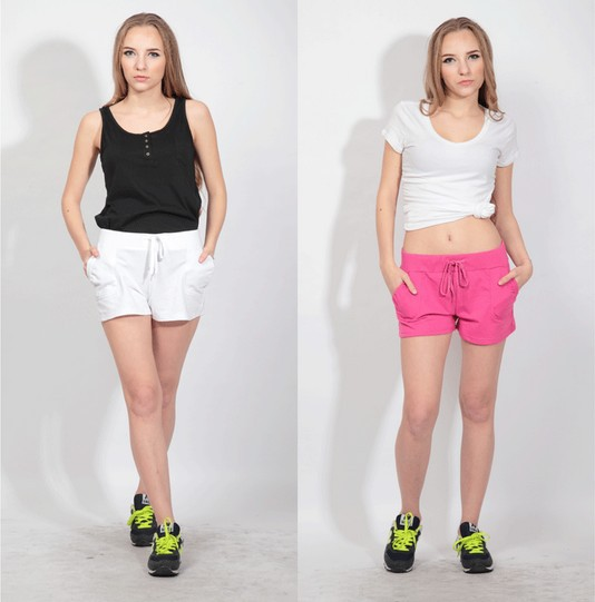 Fashion Active Sport Women Shorts Casual Solid Color Pockets Tie Waist Summer Hot Short Pants