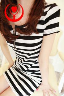 Fashion all-match 2013 stripe zipper t-shirt clothing short skirt