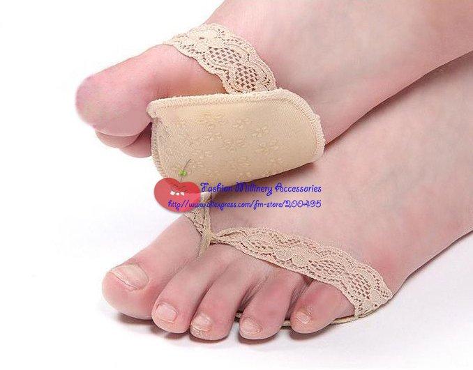 Fashion Comfort Cotton Foot Pad Slip-on Toe Pad Non-Slip Studs 10pcs/lot #2Color