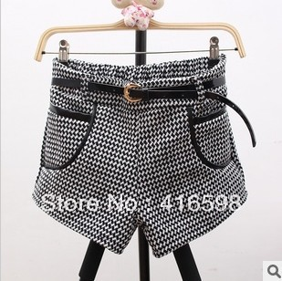Fashion fight the skin pocket, woolen shorts , boots pants , loose casual pants, send belt free