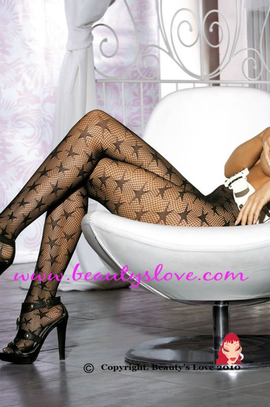 Fashion Fishnet Panty Hose With Stars,Sexy Stockings wholesale retail sexy hosiery  Item No.:9082