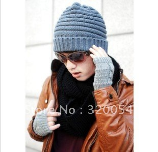 Fashion Mens wool winter hat  handmade knit  warm hat,Free shipping.