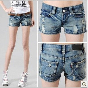 Fashion New Jeans Shorts Pants,Lady Skinny Trousers For ,Hole Design,6106#02LB353