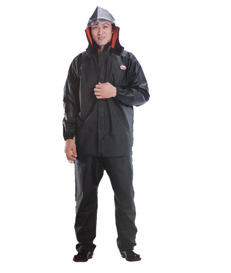 Fashion outdoor raincoat split raincoat rain pants set thickening motorcycle raincoat rain pants