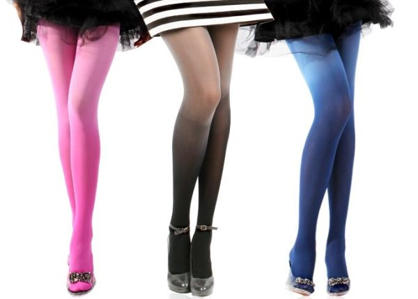 Fashion Retro Candy Color Chic Gradient Pantyhose Stockings/Tights Free Shipping 1478