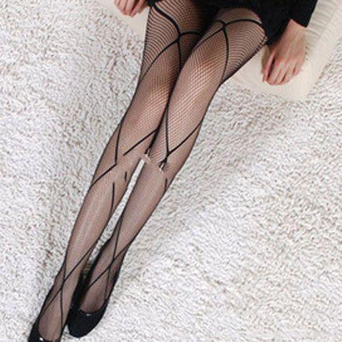 Fashion Sexy Black Fishnet Stocking Cross Net Tights Pantyhose
