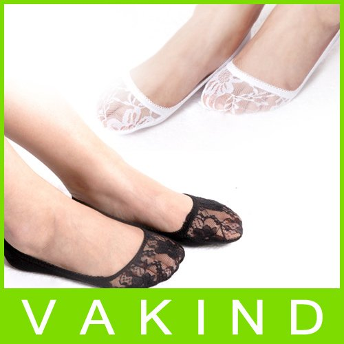 Fashion Sexy Multifunction Wrap Toes Short Socks Lace Hollow Pattern New