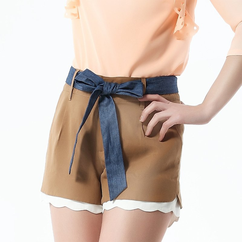 Fashion shorts female jk12b094 with belt