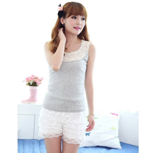 Fashion Skirt Womens Sweet Cute Crochet Tiered Lace Shorts